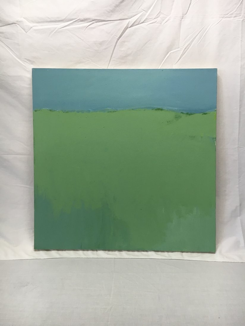 Daniel Kabele abstract modern green/blue painting - 8