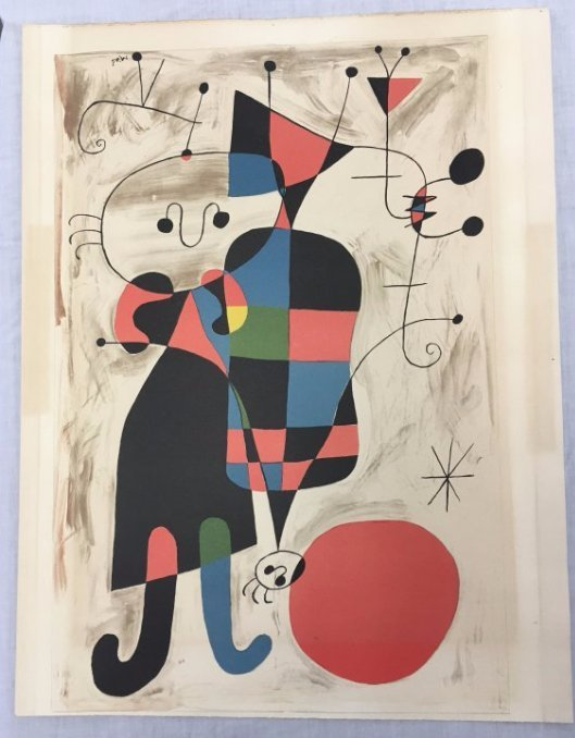 Joan Miró lithograph Derriere le Mirroir 60s