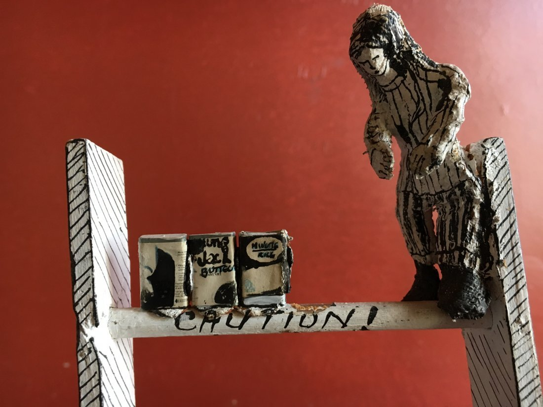 Outsider art sculpture by Shapiro Tim Burton-esque - 10