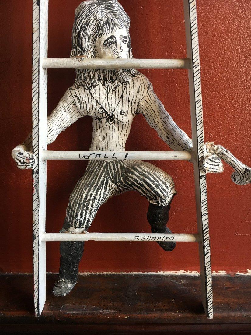 Outsider art sculpture by Shapiro Tim Burton-esque - 2