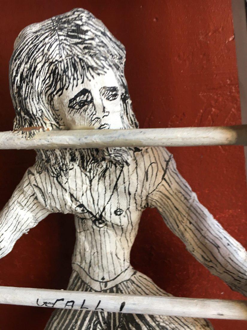 Outsider art sculpture by Shapiro Tim Burton-esque - 5