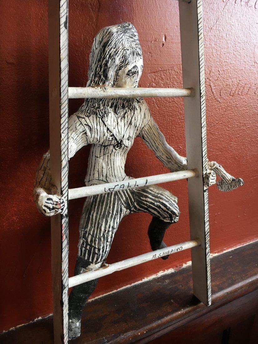 Outsider art sculpture by Shapiro Tim Burton-esque - 7
