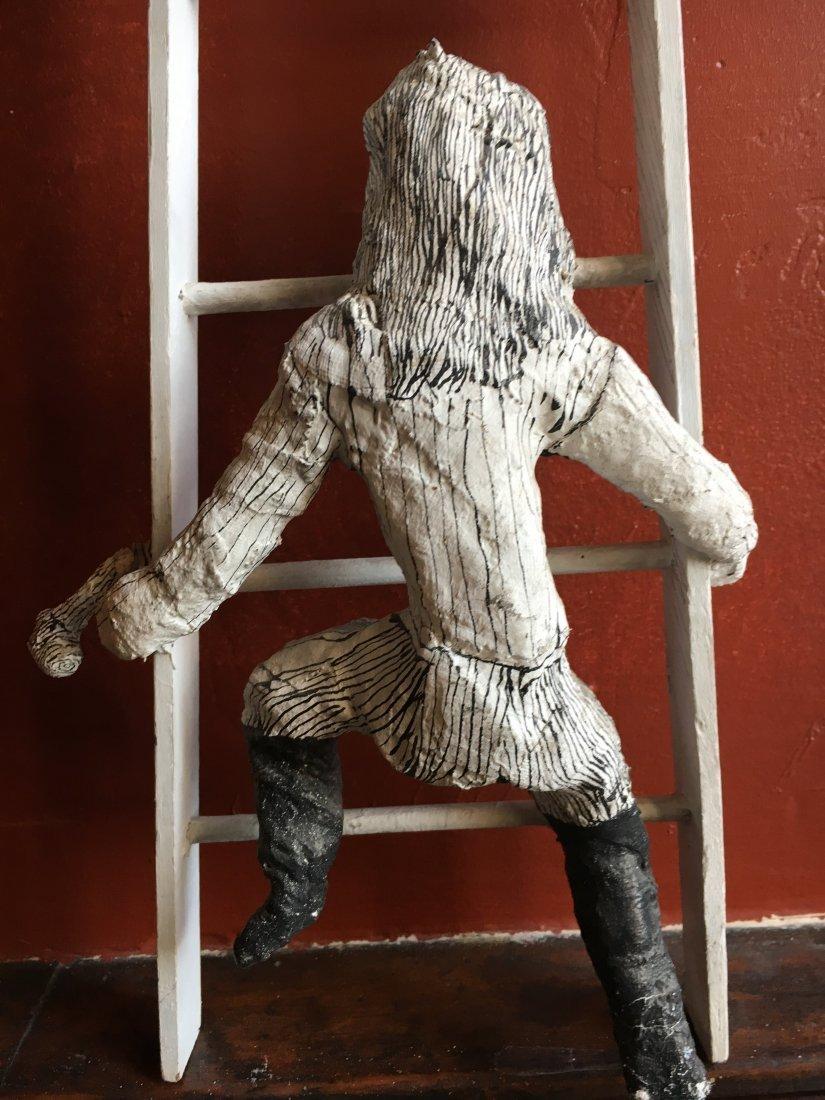 Outsider art sculpture by Shapiro Tim Burton-esque - 8
