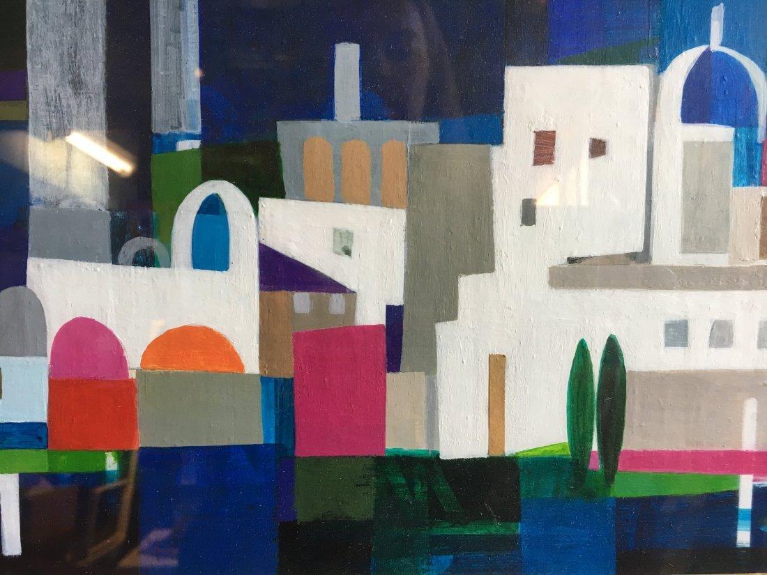"Mary Lou Hoffoos Mid Century Abstract ""moonlight magic"""