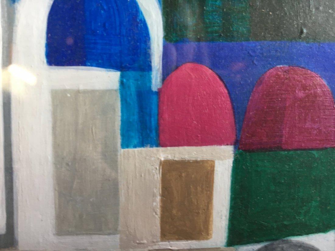 "Mary Lou Hoffoos Mid Century Abstract ""moonlight magic"" - 4"