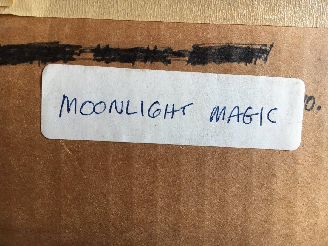 "Mary Lou Hoffoos Mid Century Abstract ""moonlight magic"" - 8"