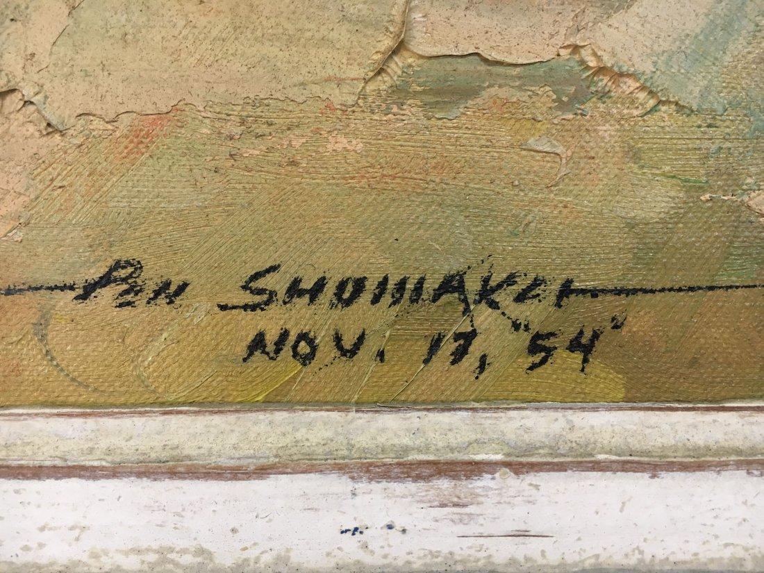 Impressionist Parisian Quai painting Pen Shumaker 1954 - 6