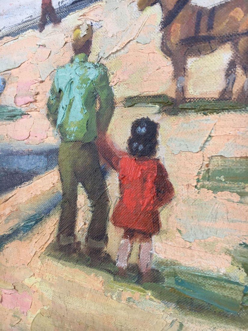 Impressionist Parisian Quai painting Pen Shumaker 1954 - 7