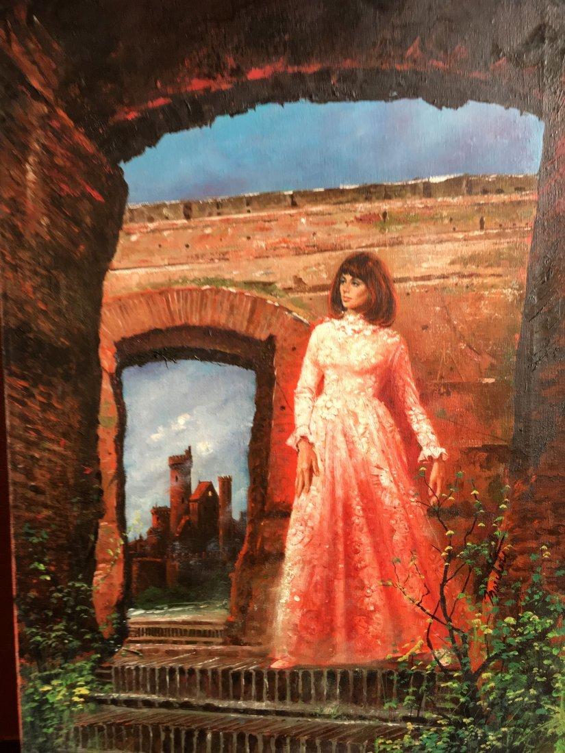 "Lou Marchetti original book painting ""Dark Interval"""