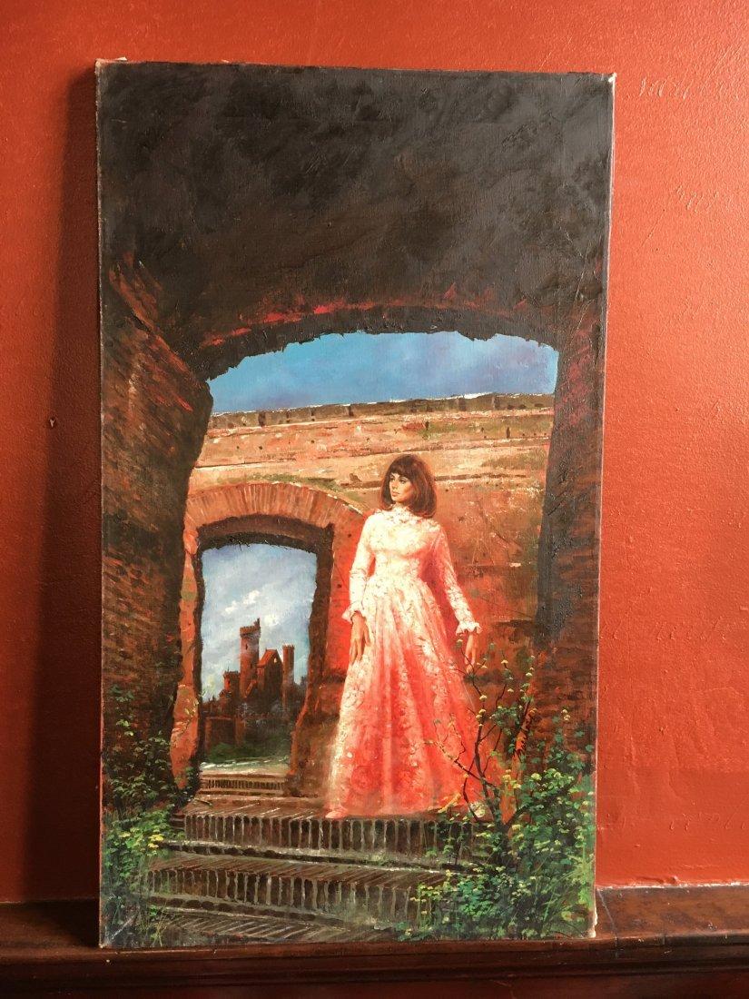 "Lou Marchetti original book painting ""Dark Interval"" - 2"