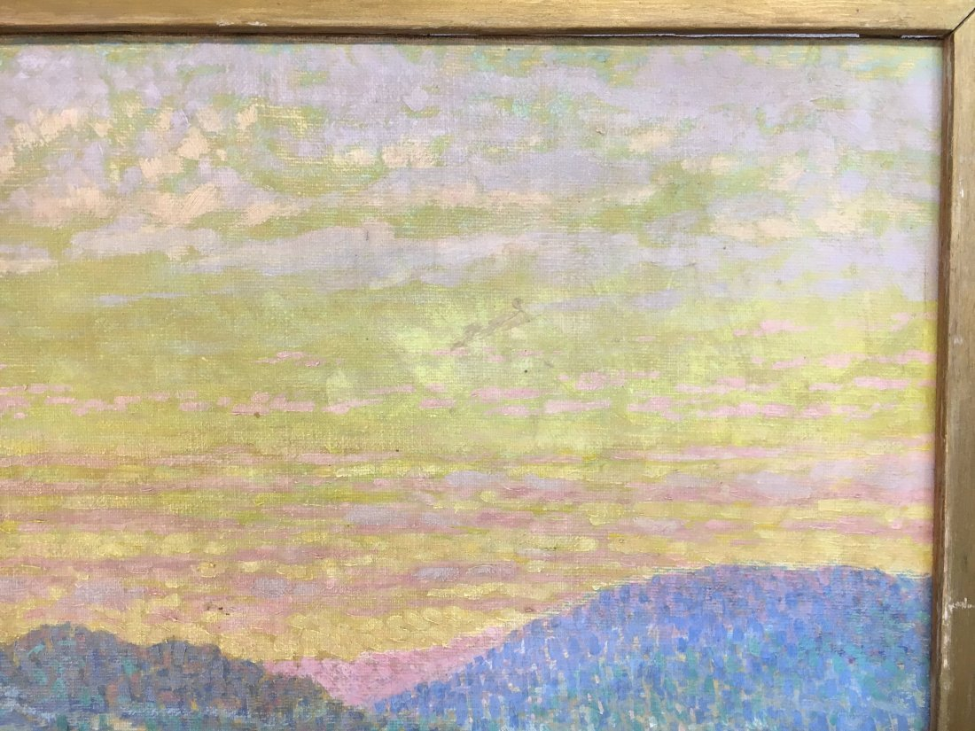 Morzon impressionist winterscape painting on canvas - 4