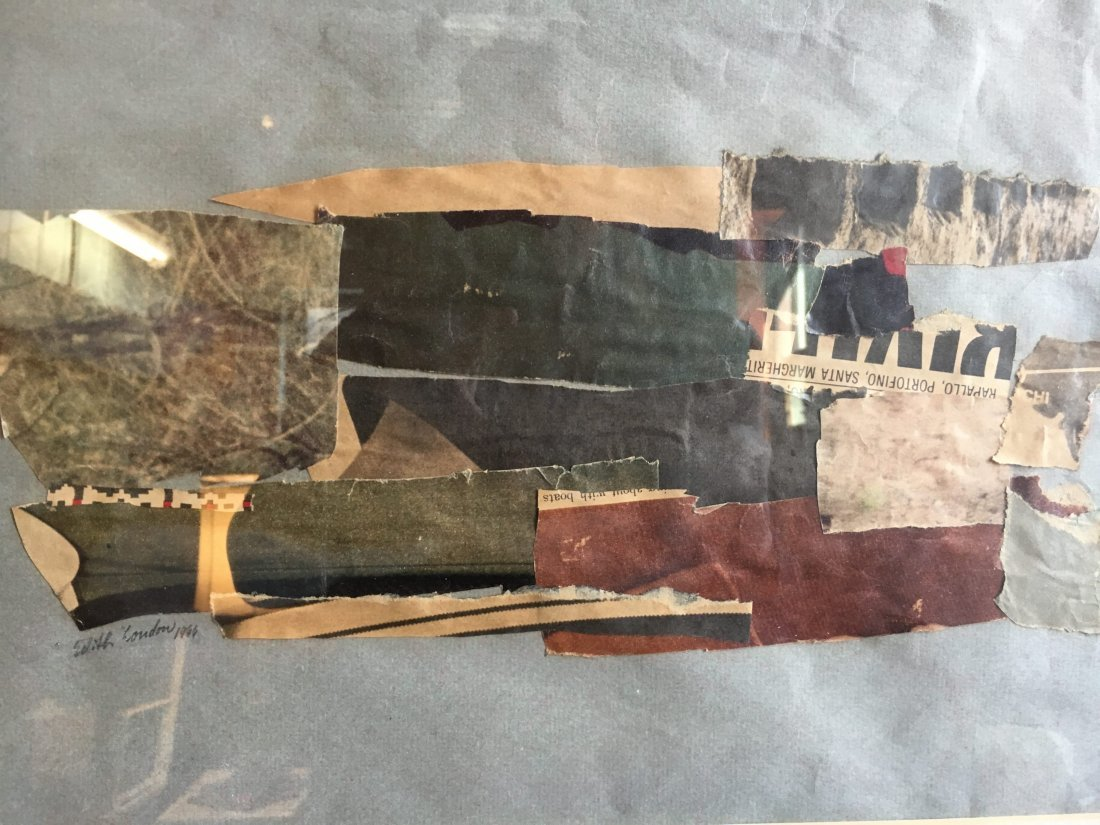 Edith London abstract expressionism collage