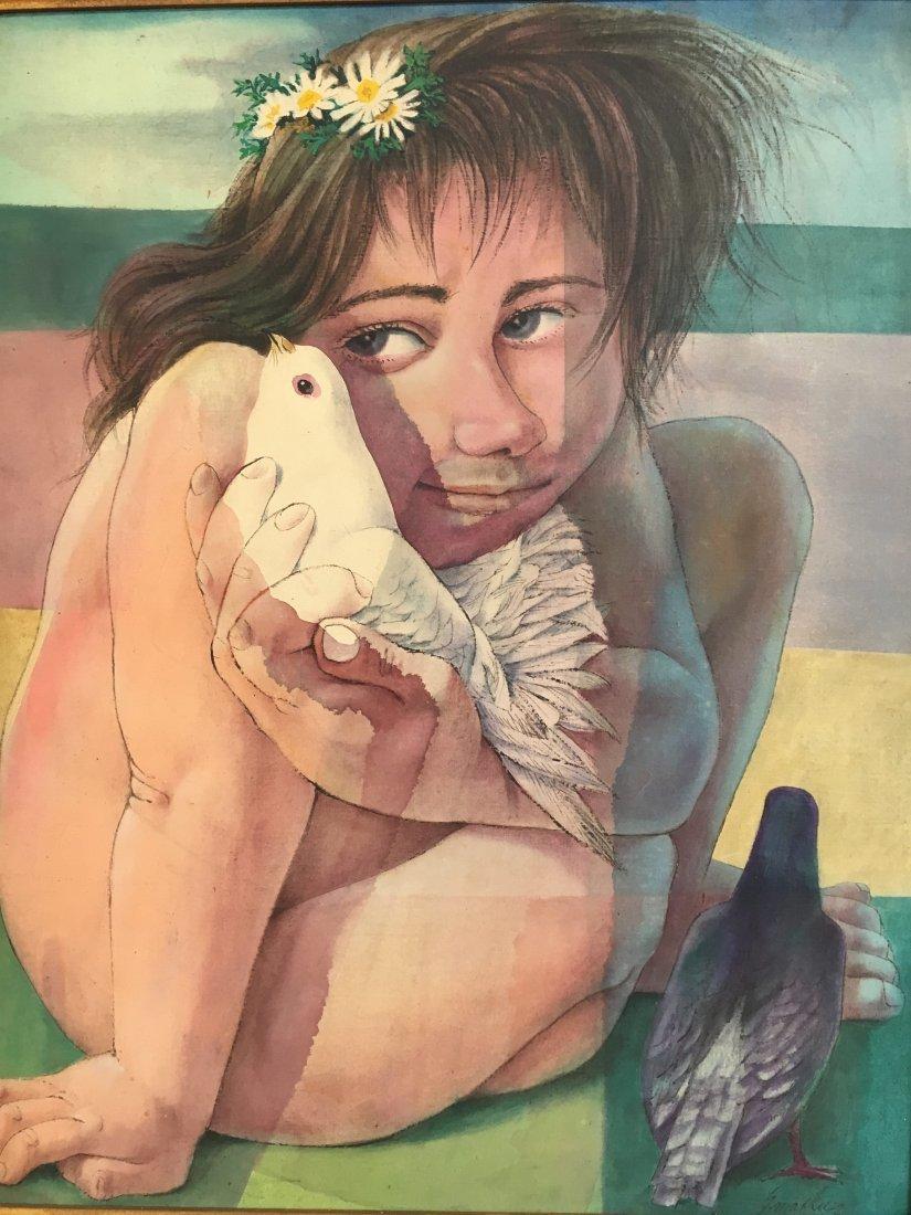 American Master Vincent Smarkusz Girl w/ bird (1939-74)