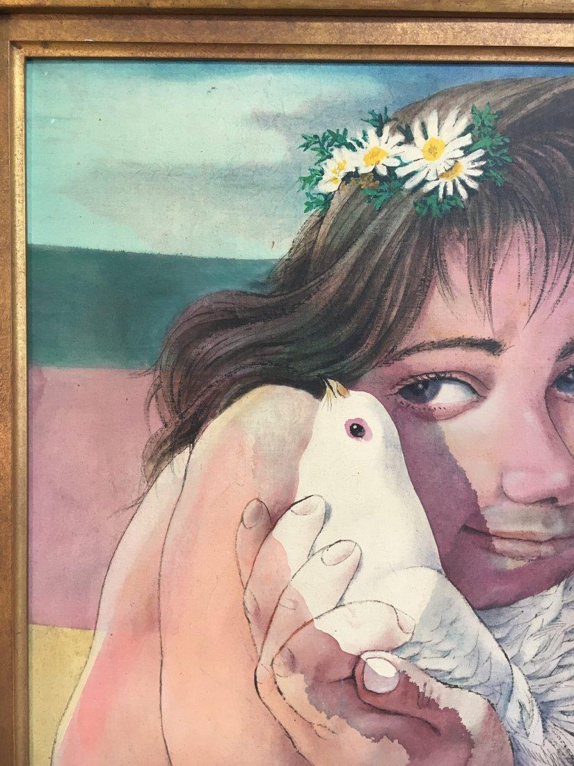 American Master Vincent Smarkusz Girl w/ bird (1939-74) - 4