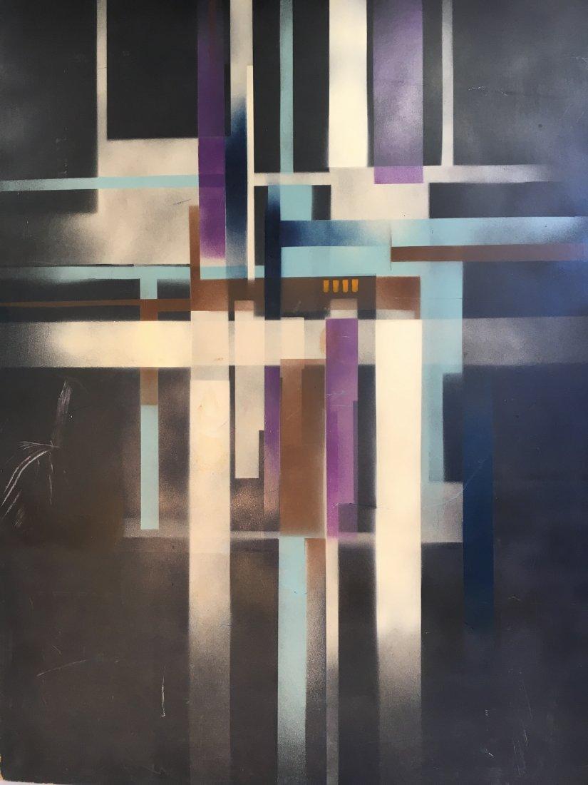 Geometric Abstract Bauhaus Norman Brown painting