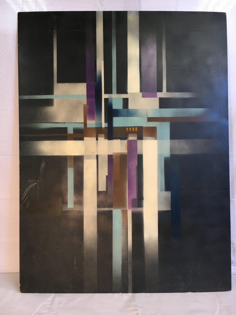 Geometric Abstract Bauhaus Norman Brown painting - 2