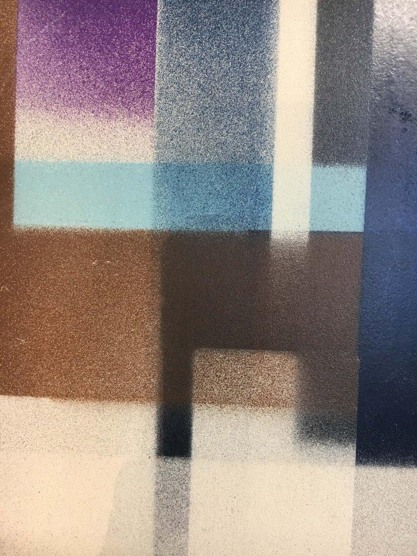 Geometric Abstract Bauhaus Norman Brown painting - 4
