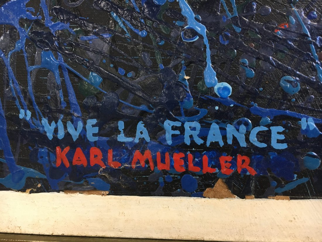 """Vive la France"" abstract painting by Karl Mueller - 3"