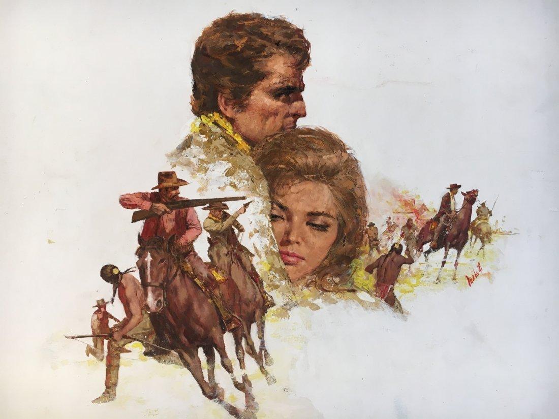 "Lou Marchetti original illustration art ""Hawks of Noon"""