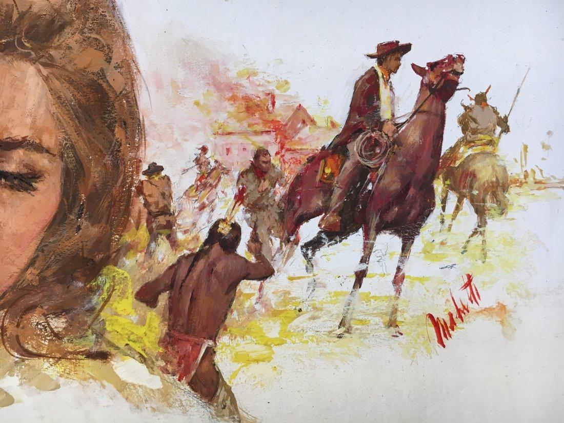 "Lou Marchetti original illustration art ""Hawks of Noon"" - 3"