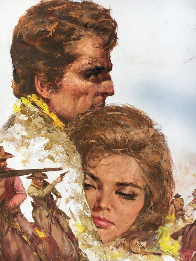 "Lou Marchetti original illustration art ""Hawks of Noon"" - 5"