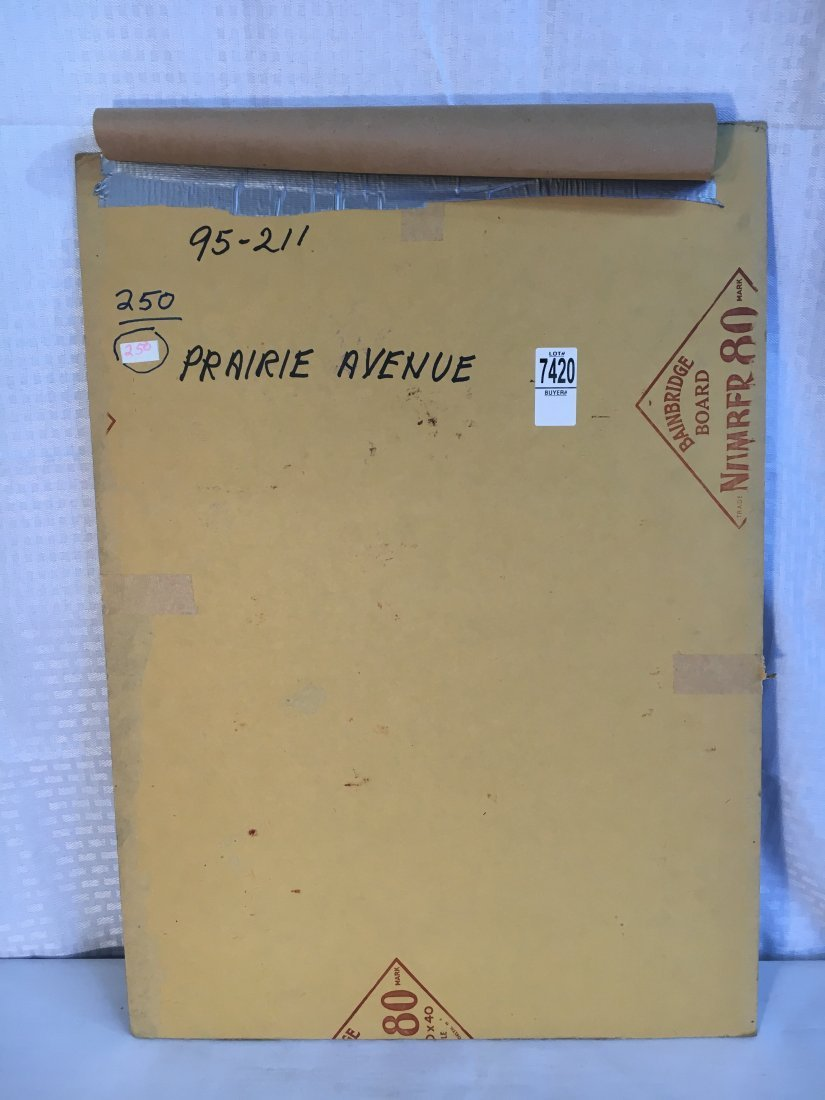 "Lou Marchetti original book painting ""Prairie Ave"" - 5"