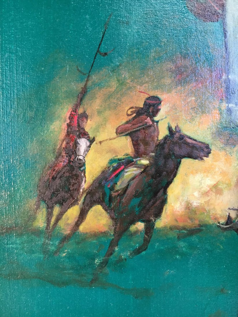 "Louis Marchetti original book painting ""Young Titan"" - 4"
