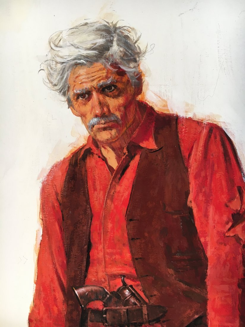 "Lou Marchetti original book painting ""Range of Honor"" - 3"
