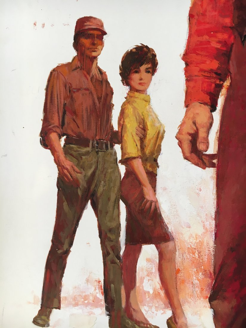 "Lou Marchetti original book painting ""Range of Honor"" - 5"
