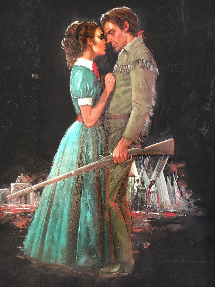 "Lou Marchetti original book painting ""Timothy Baines"""