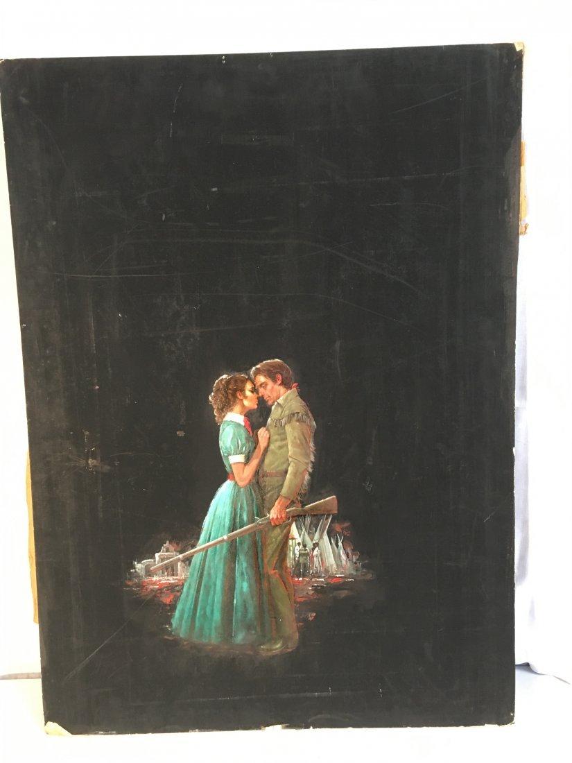 "Lou Marchetti original book painting ""Timothy Baines"" - 2"