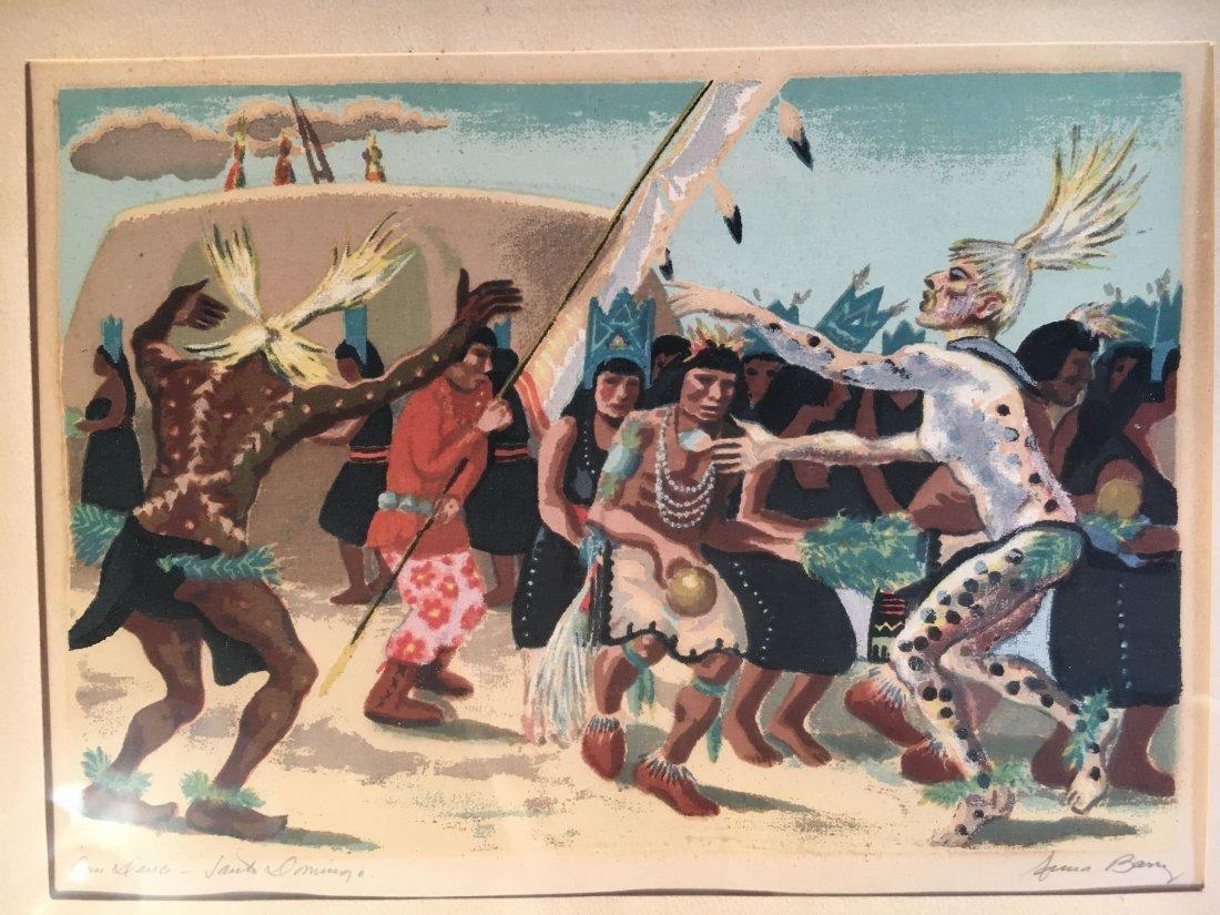 Anna Berry serigraph Corn Dance Santo Domingo