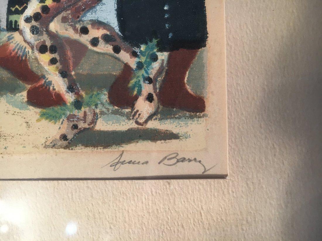 Anna Berry serigraph Corn Dance Santo Domingo - 3