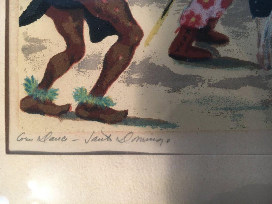 Anna Berry serigraph Corn Dance Santo Domingo - 4