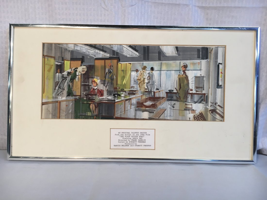 original production art The Glass Bottom Boat movie set - 4