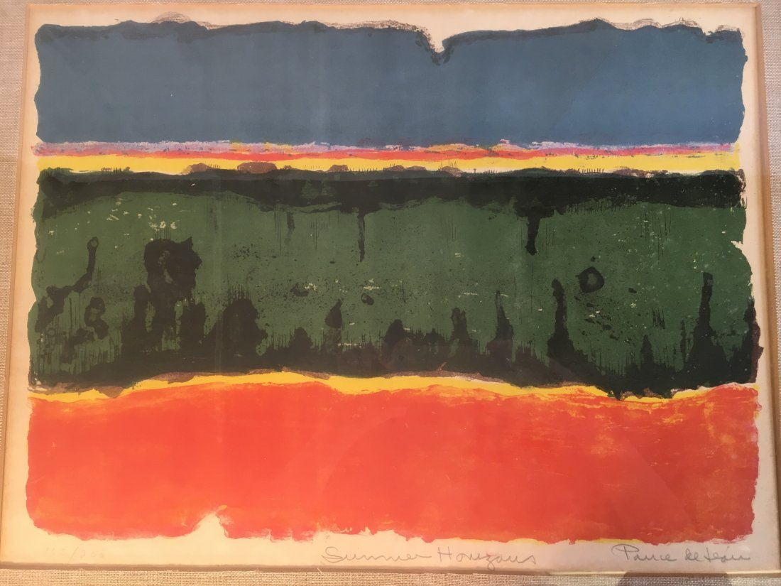 "Michael Ponce de Leon ""Summer Horizons"" Abstract litho"