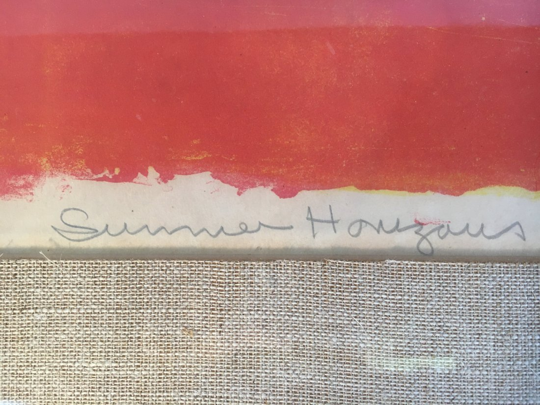 "Michael Ponce de Leon ""Summer Horizons"" Abstract litho - 3"