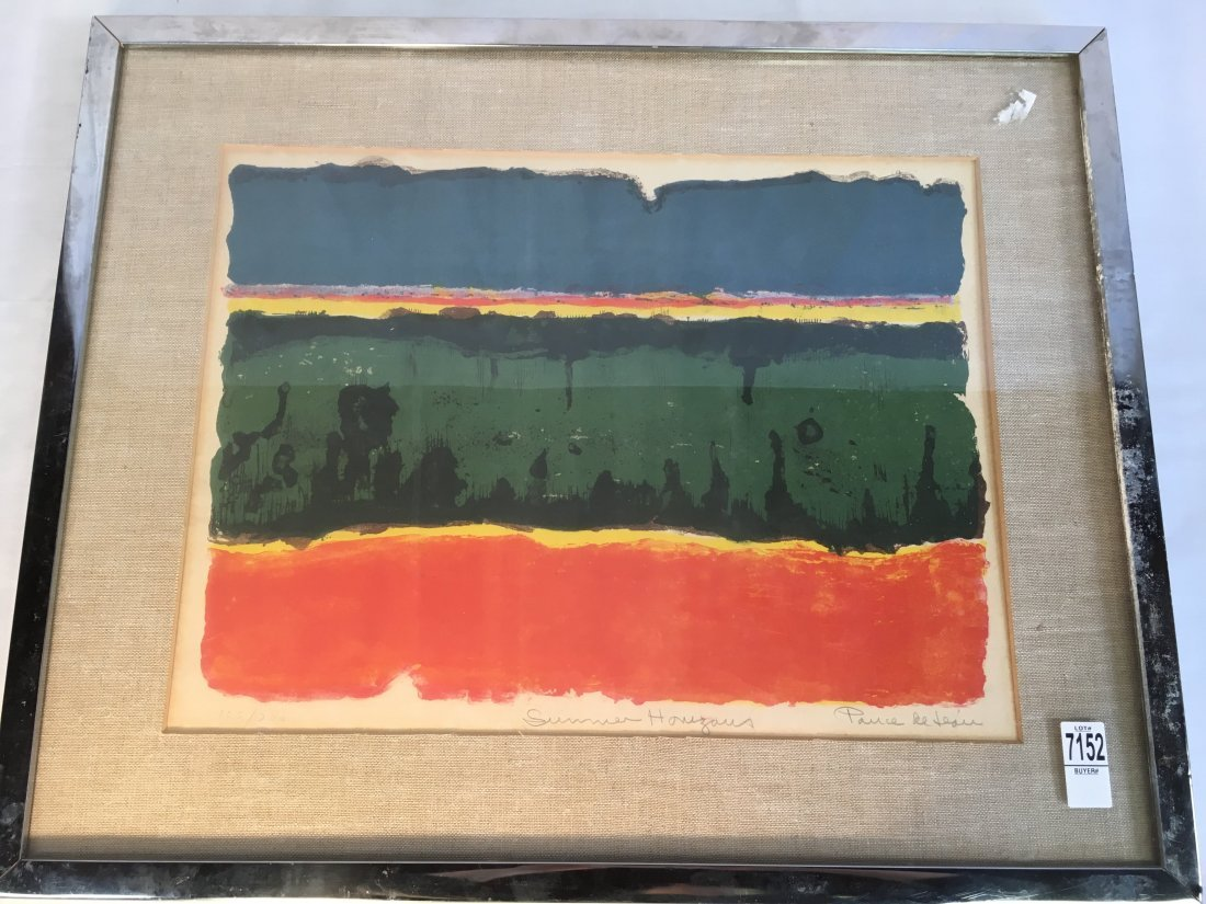 "Michael Ponce de Leon ""Summer Horizons"" Abstract litho - 7"