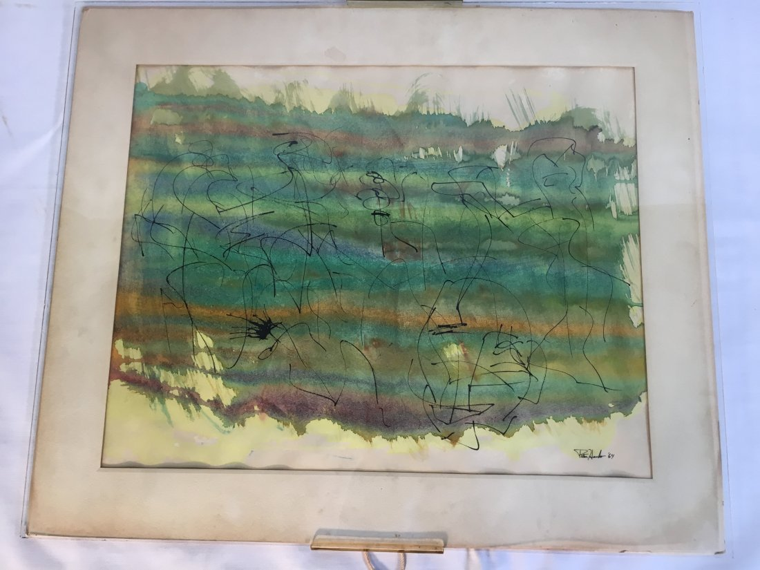 Peter Hanks original watercolor ink painting '64 - 6