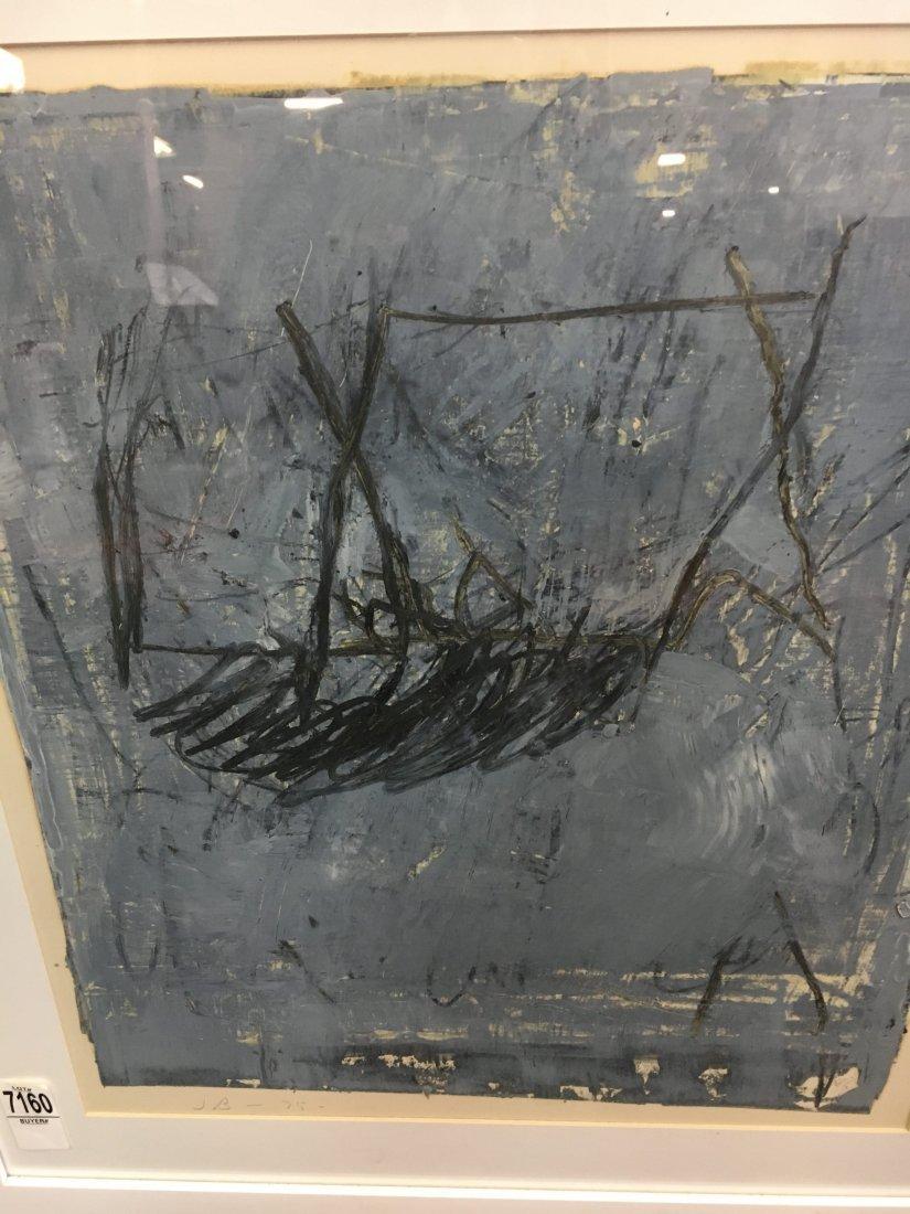 Jake Berthot original oil on paper painting 1975