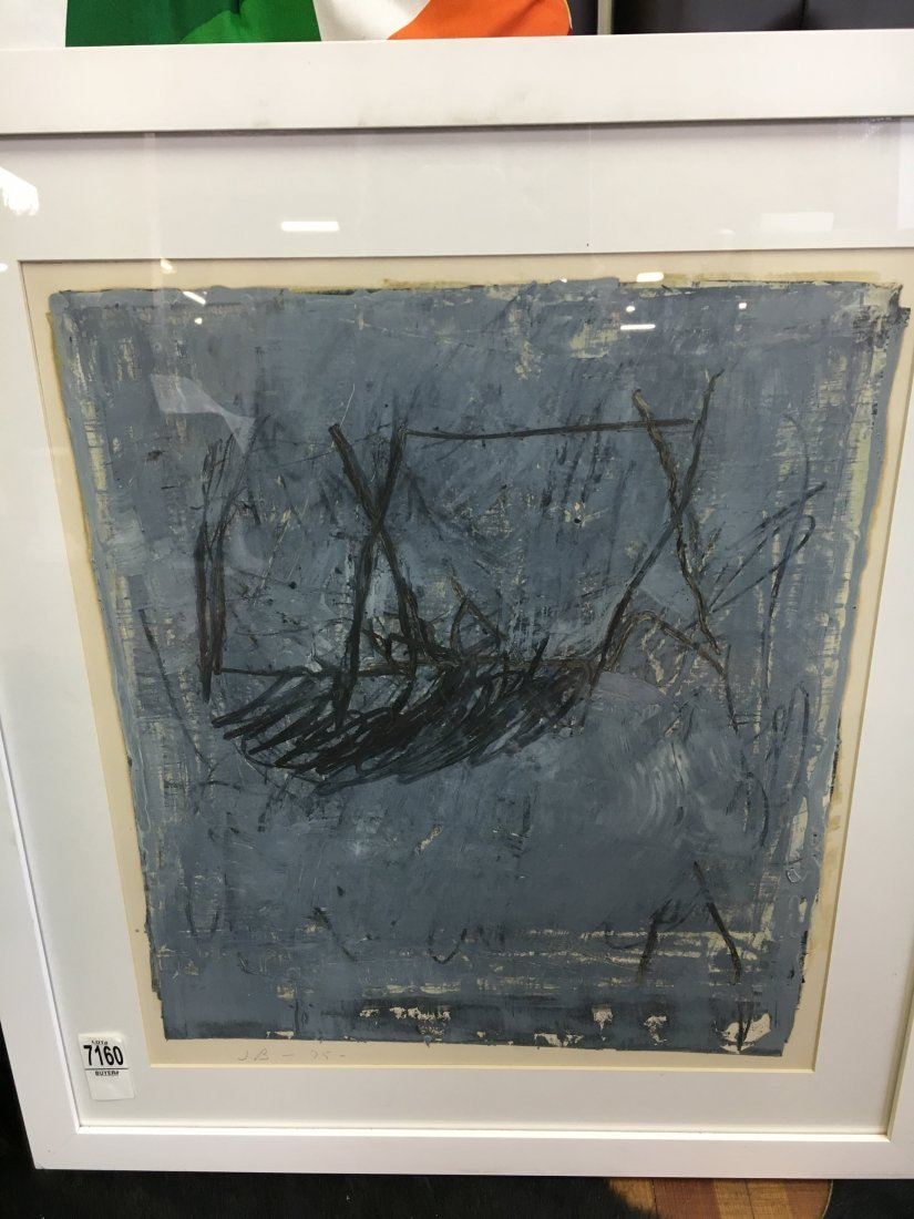 Jake Berthot original oil on paper painting 1975 - 8