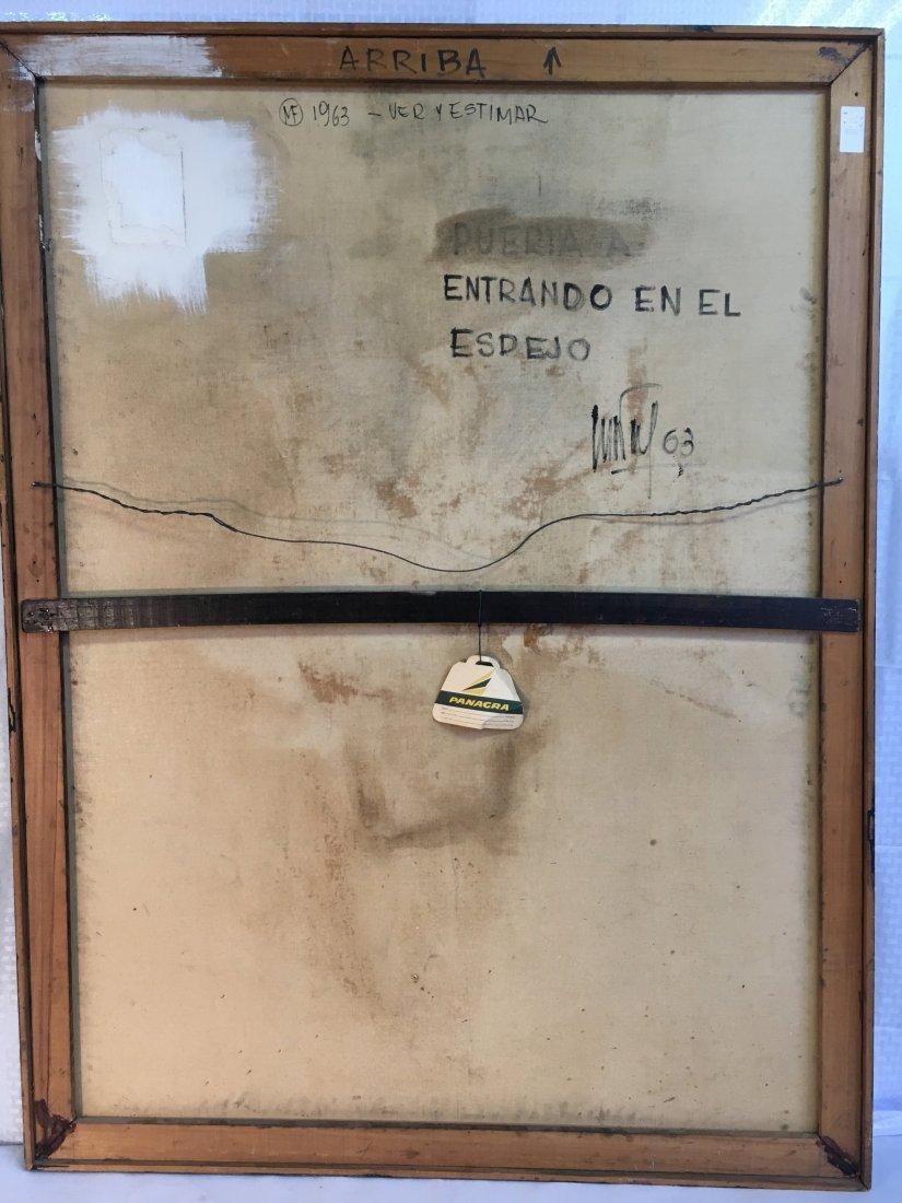 Mario Festa Entrando en el espejo abstract painting '63 - 5