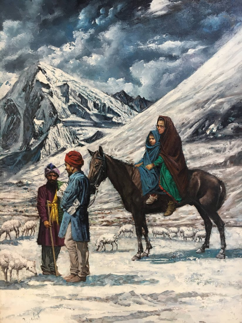 "Louis Marchetti ""Shepherd of the Mountains"" painting"