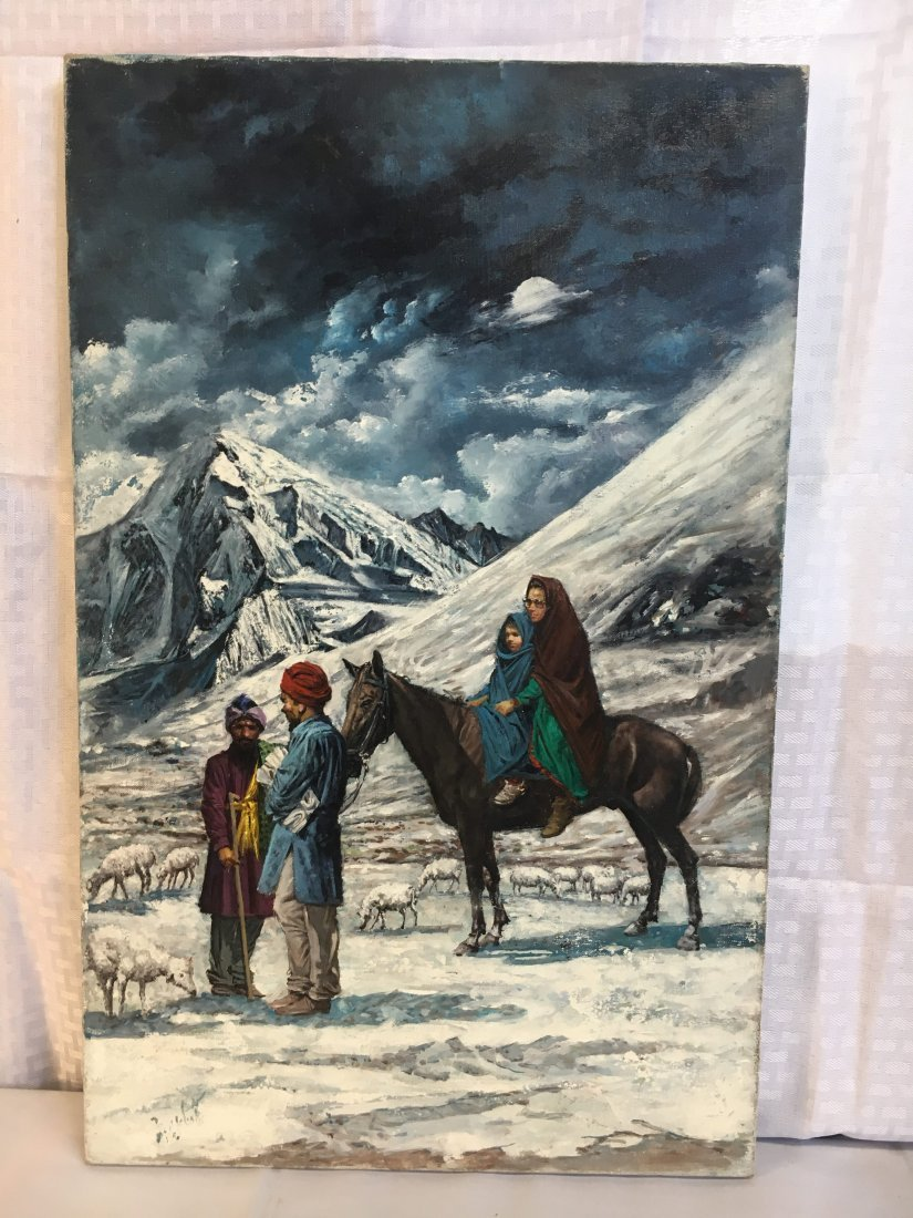 "Louis Marchetti ""Shepherd of the Mountains"" painting - 2"