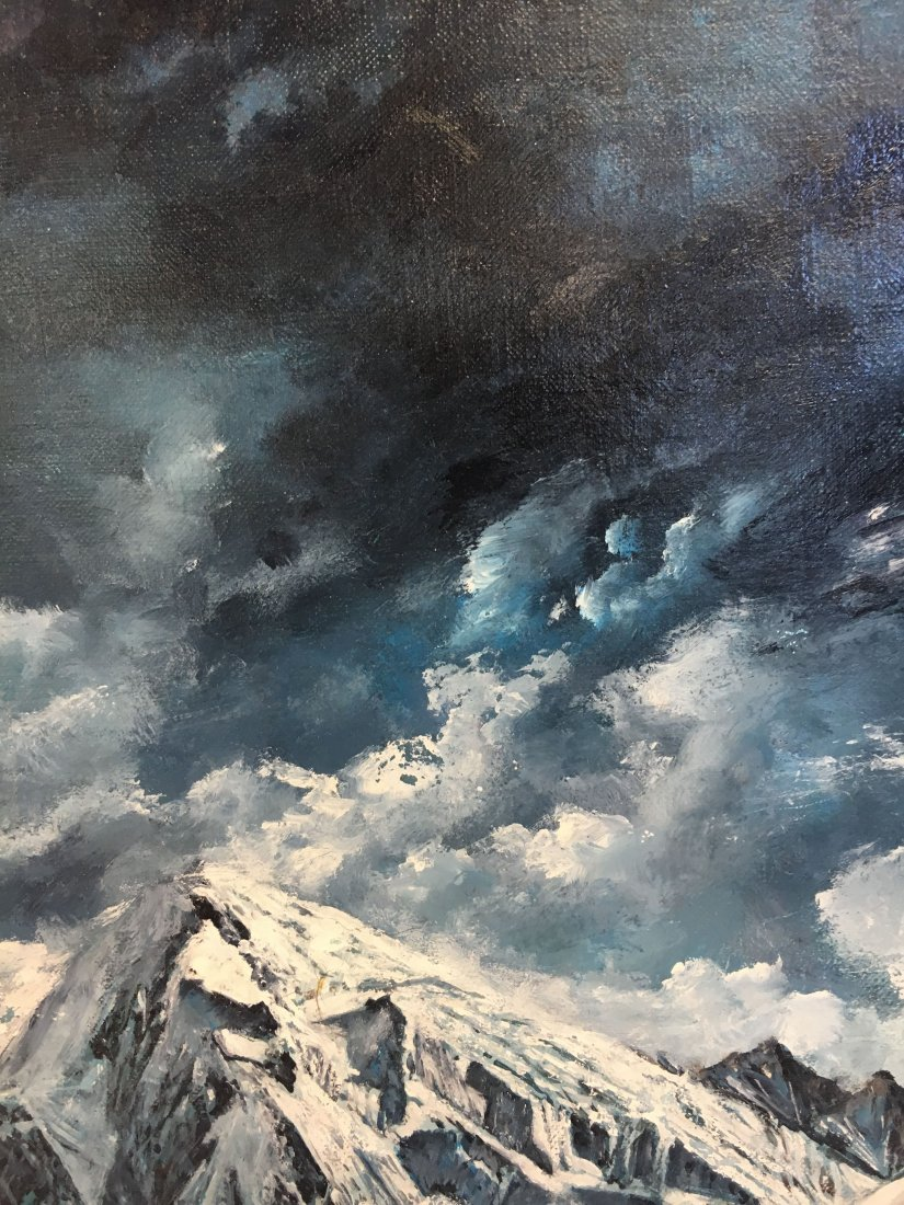 "Louis Marchetti ""Shepherd of the Mountains"" painting - 6"