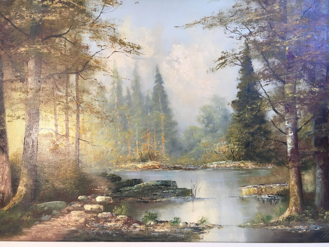 landscape oil painting by brother of Lazlo Werner