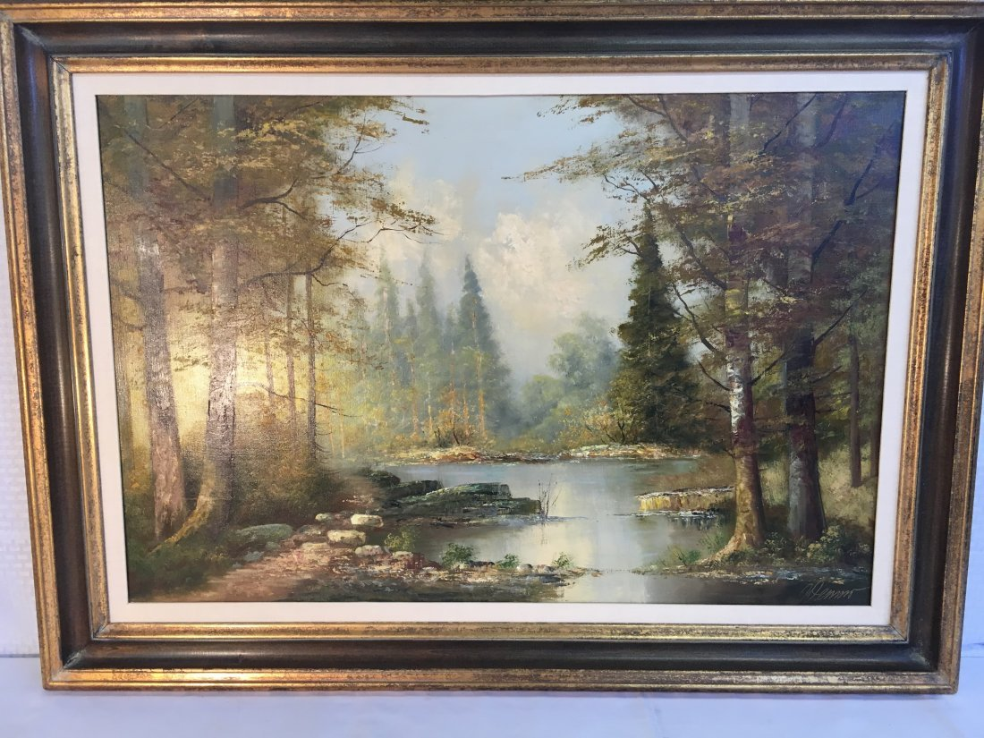 landscape oil painting by brother of Lazlo Werner - 2