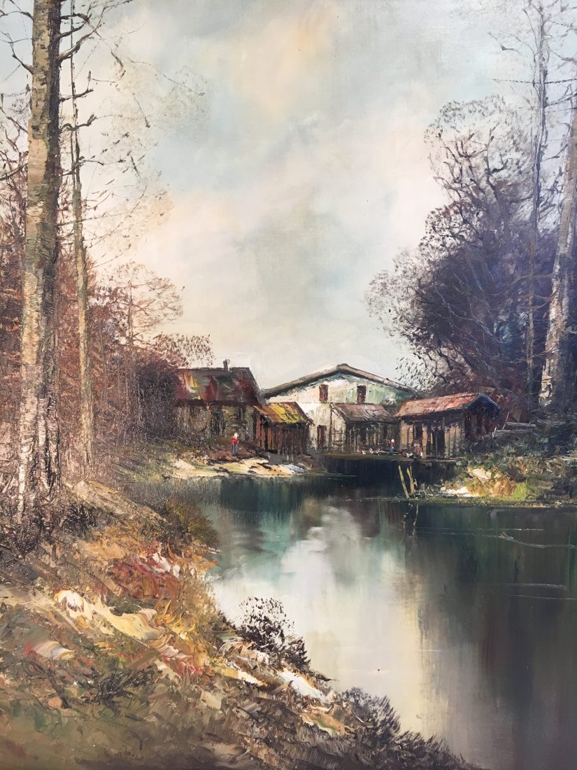 listed artist Kort German landscape painting