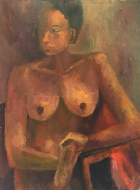 Expressionist African-American Nude painting 1960s