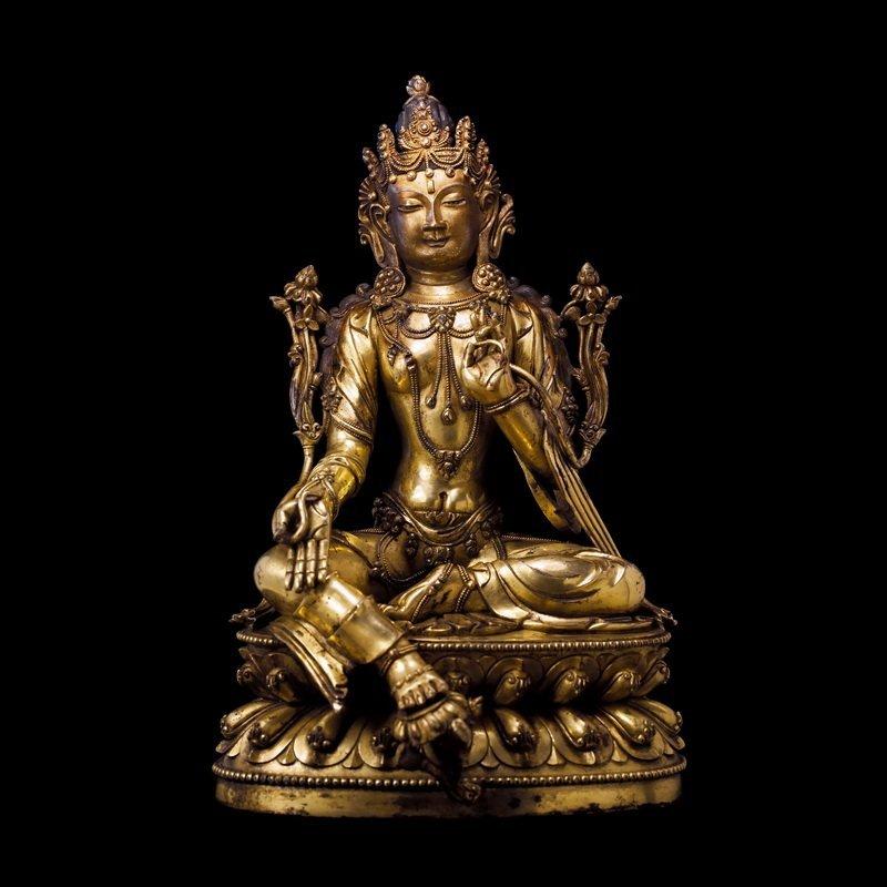 Chinese Ming dynasty Bronze figure of Buddha